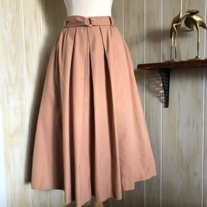 Vintage High Waisted A Line Skirt